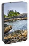 Rugged Coast Of Pacific Ocean On Vancouver Island Portable Battery Charger