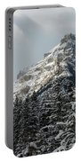 Rugged Mountain Peak With Snow Portable Battery Charger