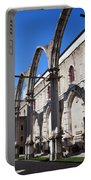 Ruins Of Carmo Convent In Lisbon Portable Battery Charger