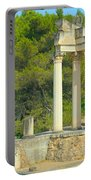 Ruins Of Roman Columns In Glanum  Portable Battery Charger