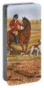 Run Fox Run Hunting Painting Commission Portable Battery Charger