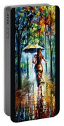 Running Towards Love - Palette Knife Oil Painting On Canvas By Leonid Afremov Portable Battery Charger