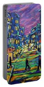 Rural City Scape By Prankearts Portable Battery Charger