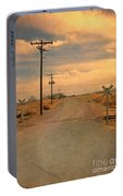 Rural Railroad Crossing Portable Battery Charger