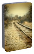 Rural Railroad Tracks Portable Battery Charger