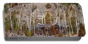 Rural Rustic Rundown Rocky Mountain Cabin Portable Battery Charger