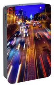 Rush Hour Traffic On North Capitol Show Portable Battery Charger