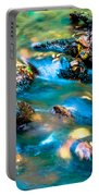Rushing Water Over Fall Leaves Portable Battery Charger