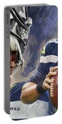 Russell Wilson Artwork Portable Battery Charger