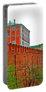 Russian Orthodox Church From Park Outside The Kremlin In Moscow-russia Portable Battery Charger