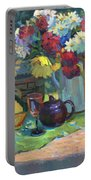 Russian Picnic Still Life Portable Battery Charger