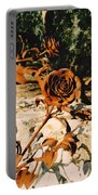 Rust And Roses Portable Battery Charger