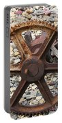 Rusted Gear Wheel Glacier National Park Montana Portable Battery Charger