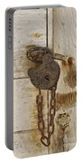 Rusted Lock Portable Battery Charger