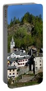 Rustic Alpine Village Portable Battery Charger