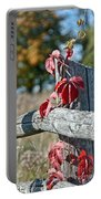 Rustic Autumn Portable Battery Charger