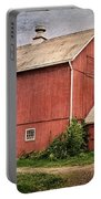 Rustic Barn Portable Battery Charger by Bill Wakeley