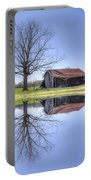 Rustic Barn Portable Battery Charger by David Troxel