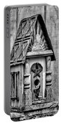 Rustic Birdhouse - Bw Portable Battery Charger