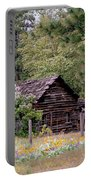 Rustic Cabin In The Mountains Portable Battery Charger