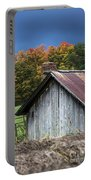 Rustic Farm Shed Portable Battery Charger