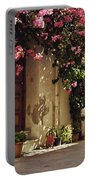 Rustic Greek Townhouse Portable Battery Charger