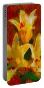 Rustic Lilies 2 Portable Battery Charger