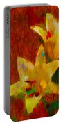Rustic Lilies Portable Battery Charger