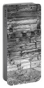 Rustic Old Colorado Barn Door And Window Bw Portable Battery Charger