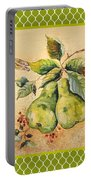 Rustic Pears On Moroccan Portable Battery Charger