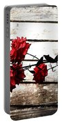 Rustic Rose Portable Battery Charger
