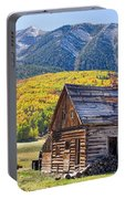 Rustic Rural Colorado Cabin Autumn Landscape Portable Battery Charger
