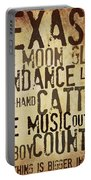 Rustic Texas Art Portable Battery Charger