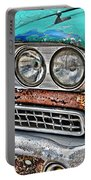 Rusty 1959 Ford Station Wagon - Front Detail Portable Battery Charger