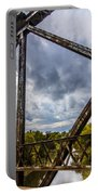 Rusty Bridge In Fall Portable Battery Charger