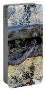 Rusty Dusty And Grimy Lock Plate Portable Battery Charger