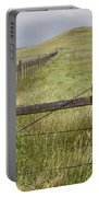 Rusty Keep Out Sign On Fence - California Usa Portable Battery Charger