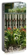 Rusty Lilies Portable Battery Charger