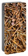 Rusty Nails Abstract Art Portable Battery Charger