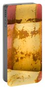 Rusty Oil Barrels Yellow Red Background Pattern Portable Battery Charger