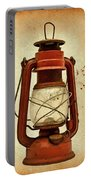 Rusty Old Lantern On Aged Textured Background E59 Portable Battery Charger
