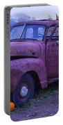 Rusty Truck With Pumpkins Portable Battery Charger