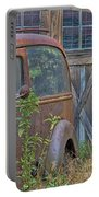 Rusty Vintage Ford Panel Truck Portable Battery Charger