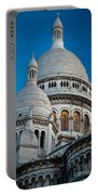Sacre-coeur And Moon Portable Battery Charger