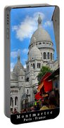 Sacre Coeur In Montmartre Portable Battery Charger