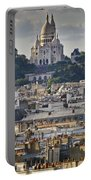 Sacre Coeur Over Rooftops Portable Battery Charger