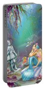 Sad Little Mermaid Portable Battery Charger by Zorina Baldescu