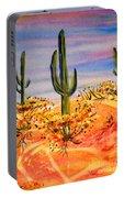 Saguaro Cactus Desert Landscape Portable Battery Charger