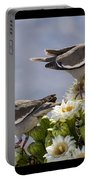 Saguaro Cactus Flower 7 Portable Battery Charger