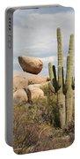 Saguaros And Big Rocks Portable Battery Charger